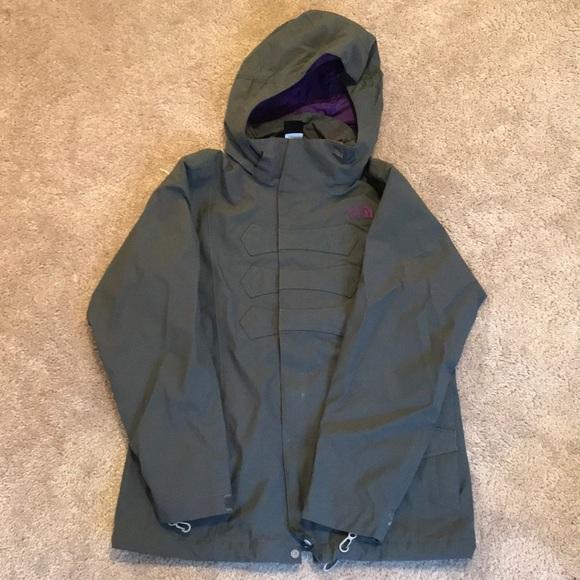 4fc9ac365 Northface Gray Youth Rain Jacket